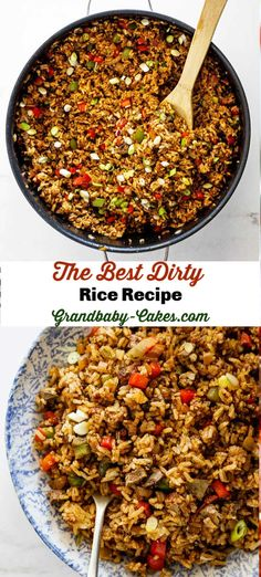 This New Orleans style Dirty Rice recipe is made perfectly with fragrant rice, hearty browned meat, seasoned vegetables and Creole and Cajun spices making it the best you will ever taste! The result is a spicy, well-seasoned rice dish that screams Cajun d Seasoned Rice Recipes, Cajun Recipes, Side Dish Recipes, Beef Recipes, Dinner Recipes, Cooking Recipes, Healthy Recipes, Easy Cooking, Easy Recipes