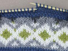 MØNSTERSTRIKK: Følg diagrammet for å lage dette mønsteret. Foto: Margrethe Miljeteig / TV 2 Knit Patterns, Hue, Knitted Hats, Diy And Crafts, Quilts, Blanket, Knitting, How To Make, Tricot