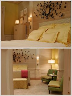 I can't wait to do this.  Serena Van Der Woodsen's Bedroom at Blair's.  The Butterflies were made from beer cans.  I <3 it.