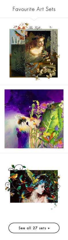"""Favourite Art Sets"" by muskrosevintage ❤ liked on Polyvore featuring art, 1006Osage, ArtdeLimaginaire, Spring, birds, bees, EtsyTeamReloved, artset, artexpression and RococcoLA"