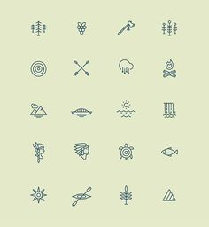Icons designed based on lake name translations and other Native American Folklore by Matt Anderson and James McDonough Small Tattoos, Mini Tattoos, Toe Tattoos, Finger Tattoos, Tatoos, Graphic Illustration, Illustrations, Simple Illustration, Lake Tattoo