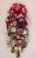 WILLIAMSBURG CHRISTMAS FRUITS 2016 HOLIDAY SWAG PLAID CHECKED BOWS WREATHS NEW