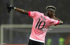 Paul Pogba of Juventus FC celebrates a victory at the end of the Serie A match between UC Sampdoria and Juventus FC at Stadio Luigi Ferraris on January 10, 2016 in Genoa, Italy.