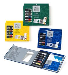 Winsor & Newton Tips & Techniques Paint Sets inspire emerging artists to get started in Watercolour, Oils or Acrylics.