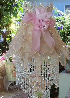 Romantic lace lampshade on Etsy