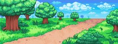 Pokemon Background Commission for Sharer by Oh-My-Stars on DeviantArt