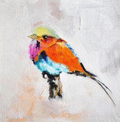 Exotic Bird Paintings - Exotic Bird 2  by Stefan Peters