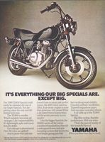 Yamaha XS400 Special 1979 Ad Picture