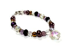 7 1/4 Purple Pink and Gold Bracelet with by DCArtandPhotography, $14.99