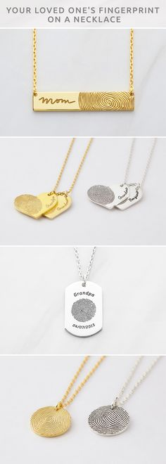 Fingerprint Necklace with Handwriting • Round Disc Fingerprint Necklace • Oval Fingerprint Necklace • Heart Fingerprint Necklace • fingerprint gifts • Fingerprint charm necklace • Fingerprint Necklace • Sterling silver fingerprint jewelry • Sterling silver memorial necklace • Fingerprint pendant necklace • Custom memorial jewelry • Bereavement Gift • Memorial Keepsake • Funeral Gift • Memorial Day Ideas • Condolence Gift • sympathy gifts for loss of father