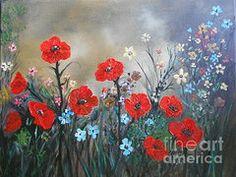 Rhonda Lee - Pretty Poppy Garden
