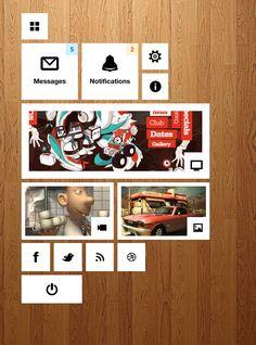 Windows Style Dashboard - 365psd