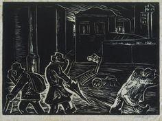 Oswaldo Goeldi, AMEAÇA DE CHUVA sem título, circa 1945, assinada xilogravura, sem numeração 19,9 x 27,5cm Coleção Ary Ferreira de Macedo