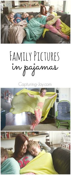 Family Pictures in Pajamas at home. Lifestyle photography shoot.
