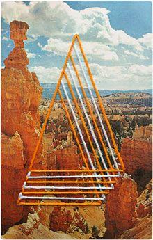 Shaun Kardinal: Hand Embroidered Postcard / Alteration no. 21, 3-1/2 x 5-1/2 inches