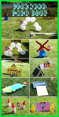 How to Build a Homemade Mini Golf Course | Golf Birthday Party Kids | Golf Birthday Gifts | Golf Gifts For Dad | Golf Gifts Under $25. #golfaid #golfer #golflessons #DIY Ideas