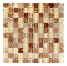 Bubble Brown Gloss/Frosted Mosaic