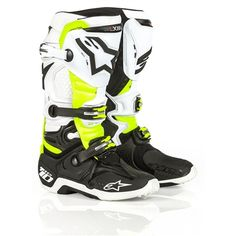 Buy the New Alpinestars 2016 Special Edition D71 Tech 10 Boots Black/White/Yellow available at Motocrossgiant. Motocrossgiant.com offers a wide selection of motocross gear, cheap bike parts, accessories with free shipping.