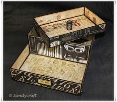 Sandy-Craft: Ordnungs-Helfer .... Helfer, Organizer, Decorative Boxes, Crafts, Home Decor, Pens, Homemade Home Decor, Crafting, Diy Crafts