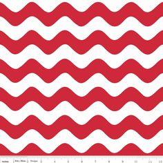 Christmas Fabric Red and White Wave Riley Blake от ChristmasJul