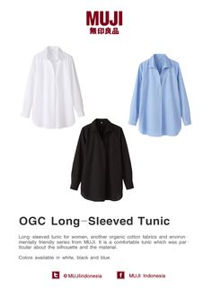 Organic cotton long-sleeved tunic for woman. Comfortable tunic which was particular about the silhouette and material