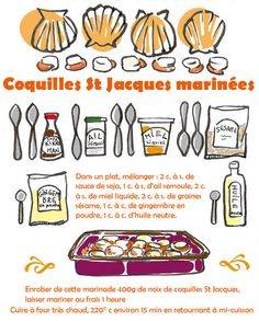 Coquille St Jacques, Good Wife, Teaching French, French Food, Food Illustrations, Tupperware, Entrees, Food To Make, Good Food