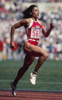 """Florence Griffith """"Flo-Jo"""" Joyner (1959 - 1998) Known as FloJo, triple gold medalist at the Seoul Olympic Games"""