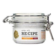 Nettoyant crème brightening Re:cipe aux larmes-de-job de Corée. 98% d'ingrédients naturels, 12 végétaux bio, 7-Free, Ph de 5