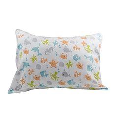 DorDor \u0026 GorGor ORGANIC Toddler Pillowcase Nickel Free Enclosure 100% Cotton Multicolored 20x14 | Toddler pillow Layette and Babies