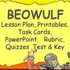 With 20 Beowulf Task Cards! Zip File -  British Literature Teacher Pack for Beowulf includes-20 Task CardsFrayer Model lesson planFrayer Model...