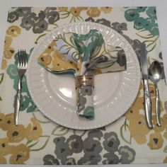 These napkins were custom ordered. They make for great placemats, too!  More are available.  Click on the orange E,  go!
