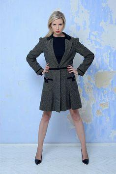 Tvídový kabát Verlaine dámský
