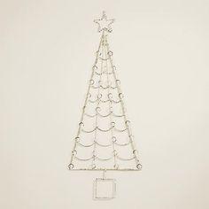 Whitewash Christmas Tree Cardholder >> #WorldMarket Holiday #HolidayDecor #Christmas