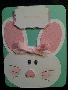 Easter card using Oval Framelits from Stampin Up
