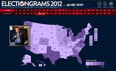 The 2012 election showed us how Instagram can be used as a source of real-time photojournalism. NBC aggregated election-related Instagram photos and mapped them by state.