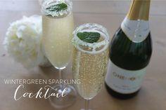 Wintergreen sparkling cocktail #wintergreen