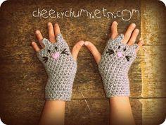 animal fingerless gloves