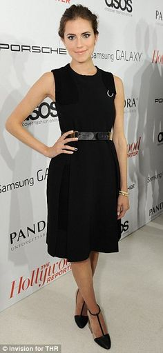 Allison Williams arrives at The Hollywood Reporter's Emmy Party at Soho House