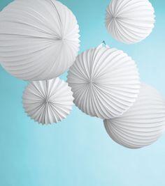 Martha Stewart Crafts Paper Lanterns-6PK/Doily Lace