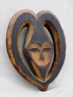 KWELE AFRICAN MASK – Bata, Ram Mask – GABON, DROC