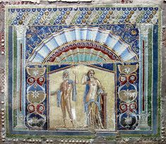#Herculaneum  --  Roman Mosaic From 'The House Of Neptune  Amphitrite'  --  Excavated at Herculaneum.