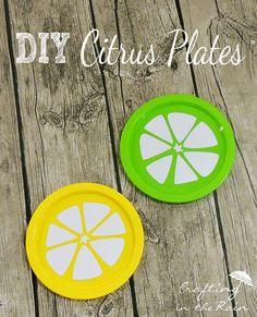 Citrus Plates | Crafting in the Rain #lemon #lime #citrus @expressionsv