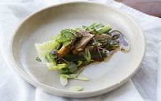Fig Vino Cotto Roast Duck in Lettuce Cups - Maggie Beer