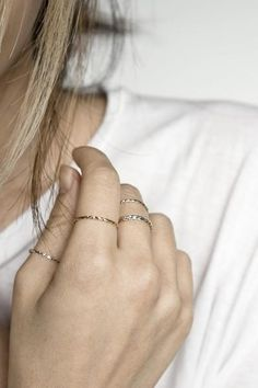 Delicate Twist Stacking Ring - TYPENU Co - 1