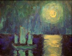 Emil Nolde - Moonlit Night (1914)