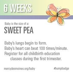 6 Weeks #bumpbadge | Mercy Medical Center - Des Moines