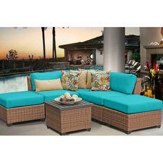 TK Classics Laguna 6 Piece Seating Group with Cushion & Reviews | Wayfair