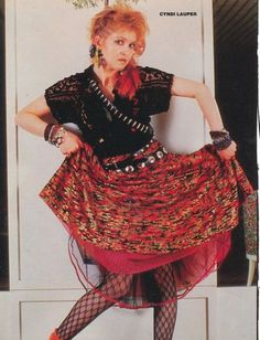 time after time-who would forget cyndi lauper? Cyndi Lauper Costume, Cindy Lauper 80s, Fancy Dress, Dress Up, 80s Trends, Mo S, 80s Fashion, Colorful Fashion, Marie