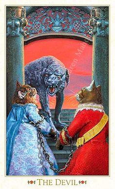 The Devil The Baroque Bohemian Cats' Tarot  Publisher: Magic Realist Press 2004