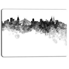 DesignArt Sao Paulo Skyline Cityscape Graphic Art on Wrapped Canvas Size: